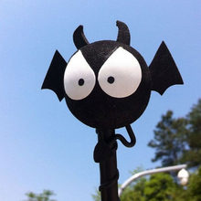 Cute Car Roof Antenna Animal Balls Black Bat Evil Vampire Car Aerial Pen Topper Cartoon Decoration Mini Stickers Ball Toy(China)