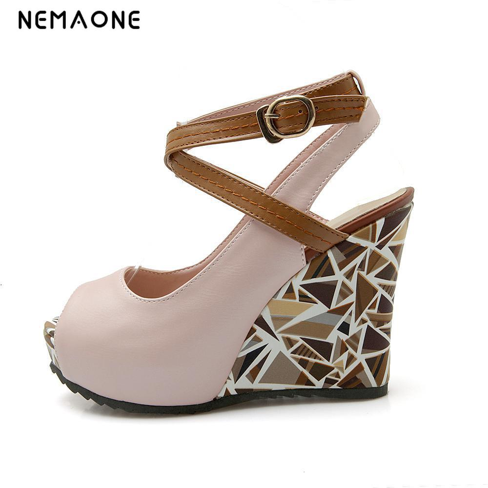 NEMAONE 2017 Women Wedge Sandals Summer Roman Bohemian ...