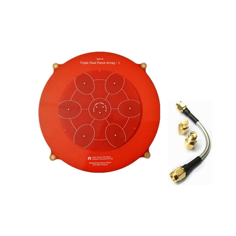Alta Qualidade 150mm Feed Triplos Remendo 5.8 GHz 14dBi Pagode Matriz Antena FPV para RC Zangão