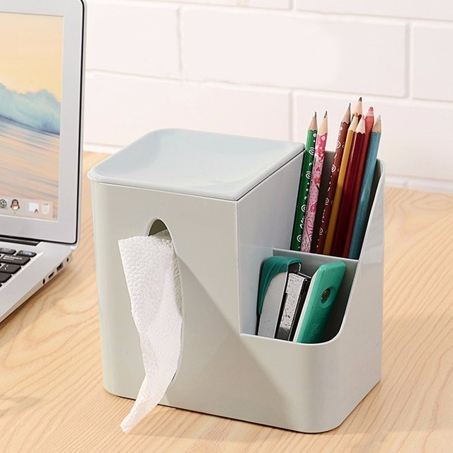 Plastic Multifunctional Storage Box Desktop Mobile Phone Remote Control Coffee Table Napkin Tissue Pumping Paper Storage & Plastic Multifunctional Storage Box Desktop Mobile Phone Remote ...