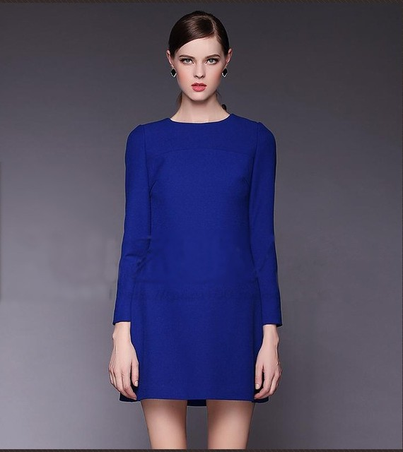 Vestido azul i negro