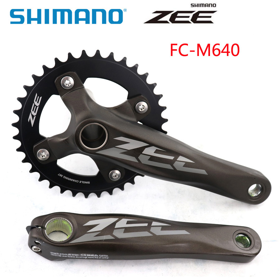 SHIMANO ZEE FC M640 FC M645 Crankset MTB 36T Bicycle Chain Wheel 165MM 170MM Crank Bicycle