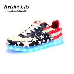 Светящиеся кроссовки USB заряжаемые кроссовки светодиодный Малыш обувь с подсветкой Обувь На Шнуровке Для девочек и мальчиков светодиодный ...