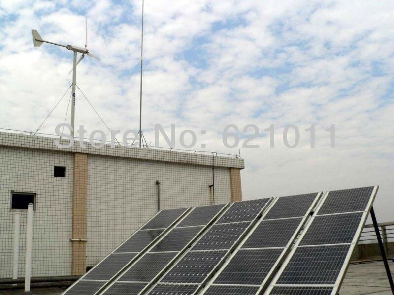3KW solar & wind hybrid system, 2kw solar,1 kw wind turbine, best for good sunshine and rich wind area
