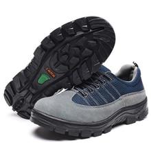 Plus tamaño 45 46 Hombres Botas de Trabajo Zapatos De Seguridad Puntera de Acero Para Anti-Smashing Antipinchazo Durable Calzado transpirable de Protección