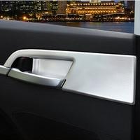 STYO Car Chrome ABS Interior Side Door Handle bowl cover Trim For LHD Elantra avante 2016