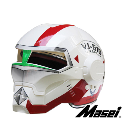Date 6 Sortes Masei Ironman Moto Casque Crâne Helm Capacete Motocross casque Intégral