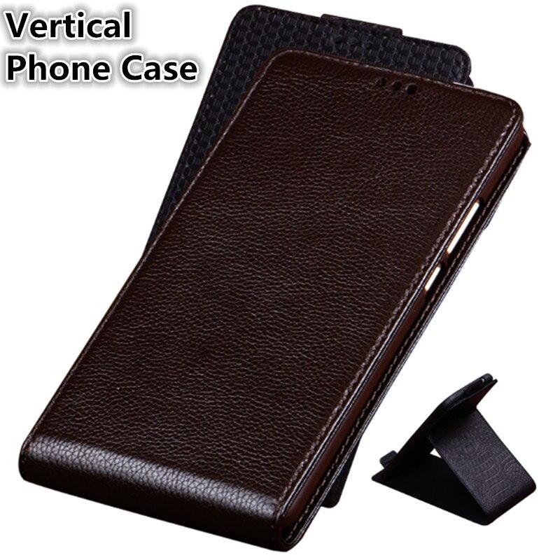 CJ06 Genuine Leather Vertical Flip Phone Bag For Motorola Moto Z2 Play Case For Motorola Moto Z2 Play Vertical Case