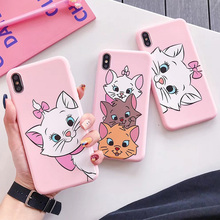 Cute Pink Marie Cat Soft Silicone Phone Case For iphone 6 6s 6 s 7 8 plus Love Cartoon Case for iphone X XR XS MAX Cover Coque верхний душ hansgrohe raindance select s 30 27337000 хром