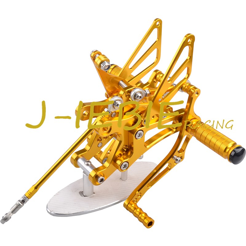 CNC Racing Rearset Adjustable Rear Sets Foot pegs Fit For Yamaha YZF R1 2004 2005 2006 GOLD titanium cnc aluminum racing adjustable rearset foot pegs rear sets for yamaha mt 07 fz 07 mt07 fz07 2013 2014 2015 2016
