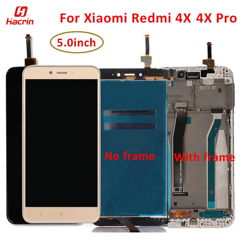 Display lcd para xiaomi redmi 4x tela lcd + tela de toque com substituição do quadro para redmi 4x 4 x pro tela lcd