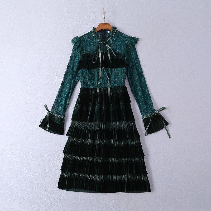 Europeo Moda Alta Diseño Ws0315 Las De Marca Mujeres La Primavera Lujo Estilo 2019 Calidad Fiesta Vestido pa174xwq