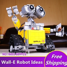 2017 New Lepin 16003 Idea Robot WALL E Building Set Kits Toys Educational Bricks Blocks Bringuedos 21303 for Children DIY