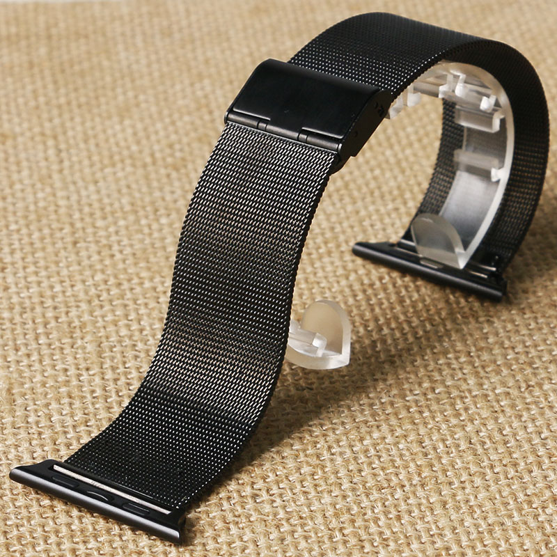 Original Link Bracelet strap & Milanese Loop watchbands Stainless Steel band for apple watch 38mm / 42mm Watchband For iWatch milanese loop watch strap men link bracelet stainless steel woven black for apple watchband 42mm 38mm iwatch free tools
