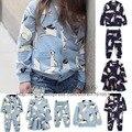 2016 nova primavera outono inverno crianças camisola coelho bobo choses nununu camisolas t meninos camisa do bebê girls dress romper tops