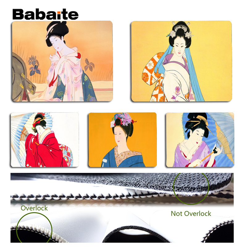 Babaite New Designs Japanese traditional style Large Mouse pad PC Computer mat Size for 180x220x2mm and 250x290x2mm Mousepad