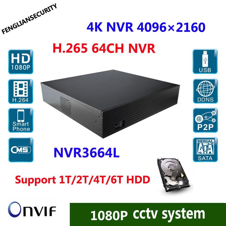 где купить H.265 2U 64CH 4K/5mp/4mp/3m/2m 8 SATA Hard Disk Interface ,Onvif NVR at any time and any place P2P cloud service по лучшей цене