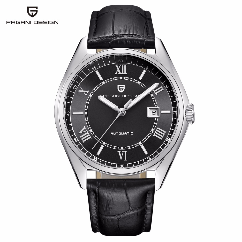 PAGANI DESIGN Classic Automatic Mechanical Watch Men Leather Strap Waterproof Mens Watches Top Brand Luxury Clock reloj hombre mens mechanical watches top brand luxury watch fashion design black golden watches leather strap skeleton watch with gift box
