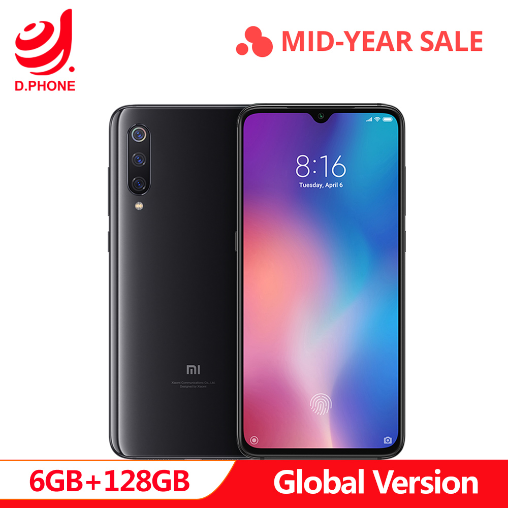 Global Versão Original Xiao mi mi 9 9 6 GB 128 GB mi Snapdragon 855 Octa Core 6.39