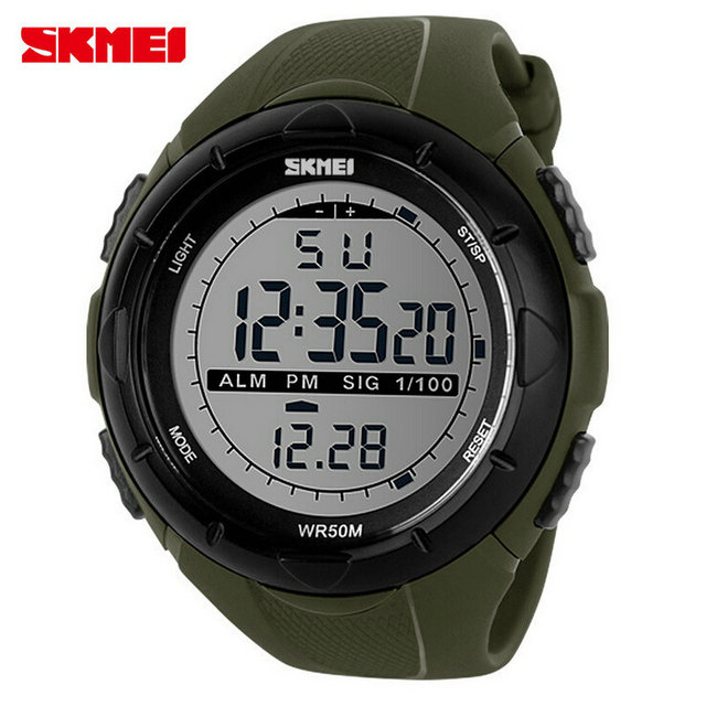 f724384c4 Skmei Brand 1025 Relogio Men Sports Watches LED Digital Military Watch  Outdoor Dress Multifunction Fashion Casual