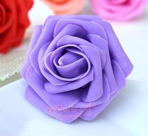 500 шт. X(6 см) один Пена розовыми цветами стволовых в 12 различных Цвета для выбора свадебные цветы.* по EMS - Цвет: purple