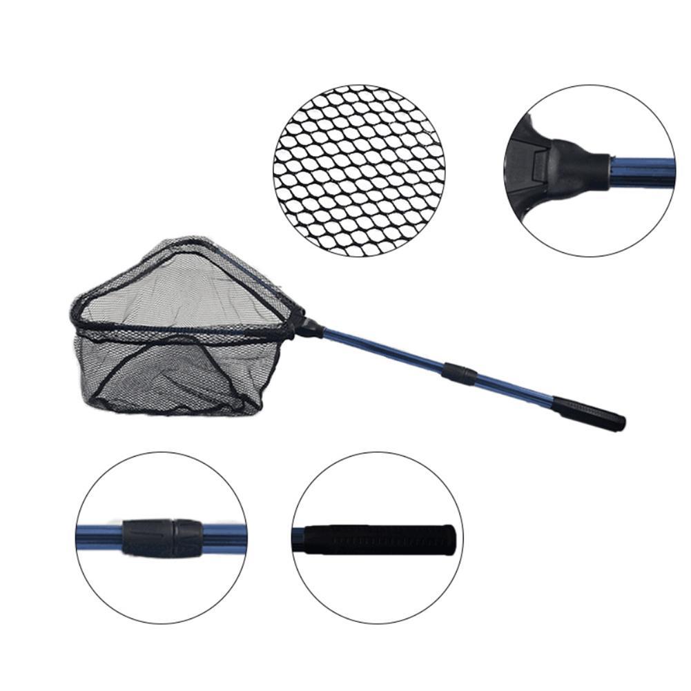 90cm Portable Telescopic Fish Net Foldable Fish Triangular Landing Net in Fishing Net from Sports Entertainment