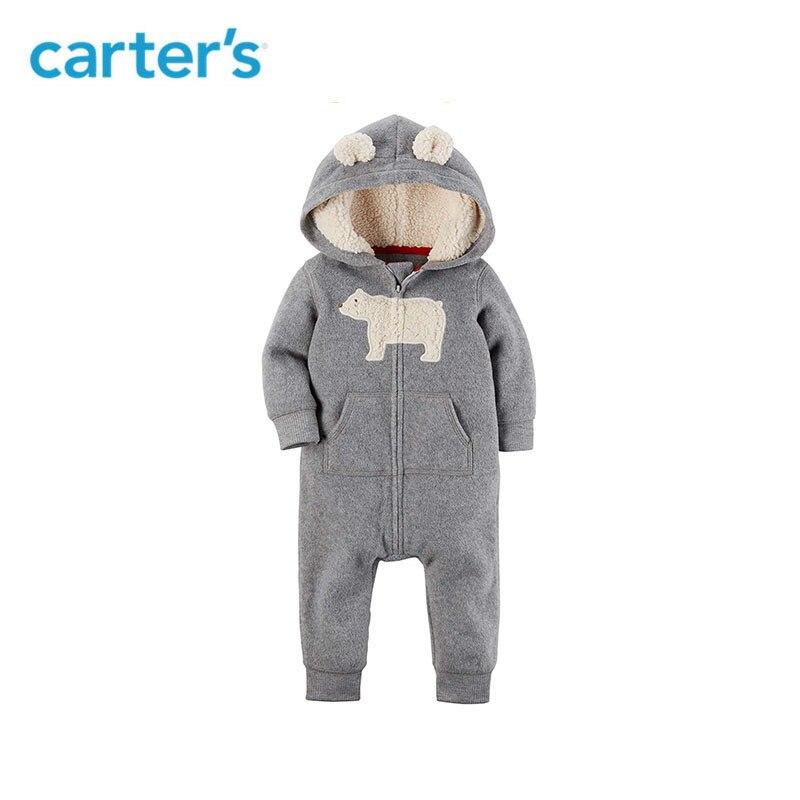 Carters mamelucos de bebé lindo oreja con capucha de lana con capucha mono bebé chica mono bebé recién nacido Ropa de niño 118H621/118I728/118I726 /118I770
