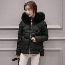 2016 зима новый Корейских женщин мода Тонкий толстые разделе короткие волосы пальто пуховик