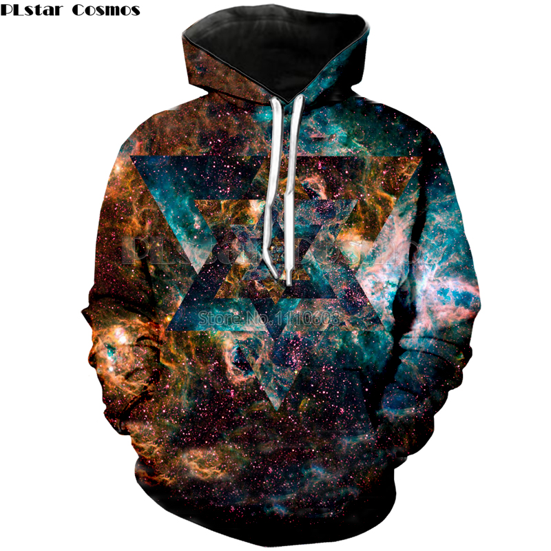 PLstar Cosmos New style Space Galaxy Hoodies 3d print Men/Women Fashion Sweatshirts loose thin Pullovers free shipping Hot Tops
