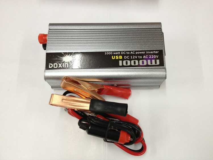 Modified Sine Wave Car Power Inverter 1000W DC12V input to AC 220V output with USB port charging mobile