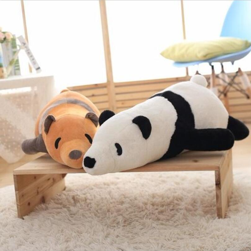 1pcs 60cm Big Size Cute Panda Doll Black And White Papa Bear Plush Toy Doll Baby Bear Birthday Gift Girl And Boys Children Toys 1pcs 22cm fluffy plush toys white eyebrows cute dog doll sucker pendant super soft dogs plush toy boy girl children gift