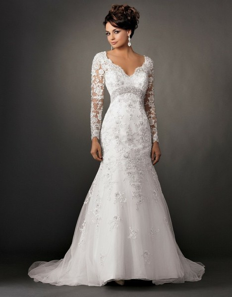 New-White-ivory-Long-Sleeves-Organza-Wedding-Dresses-Bridal-Gown-Size-2-4-6- 18-20.jpg