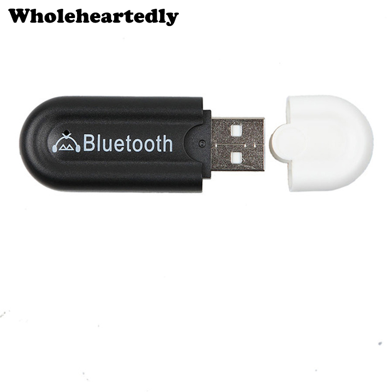 Bluetooth 4 0 Wireless Music Receiver 3 5mm Adapter Car Handsfree Aux Speaker: WHOLEHEARTEDLY New 3.5mm USB Bluetooth 4.0 Stereo Audio Music Receiver Car Kit Wireless Dongle