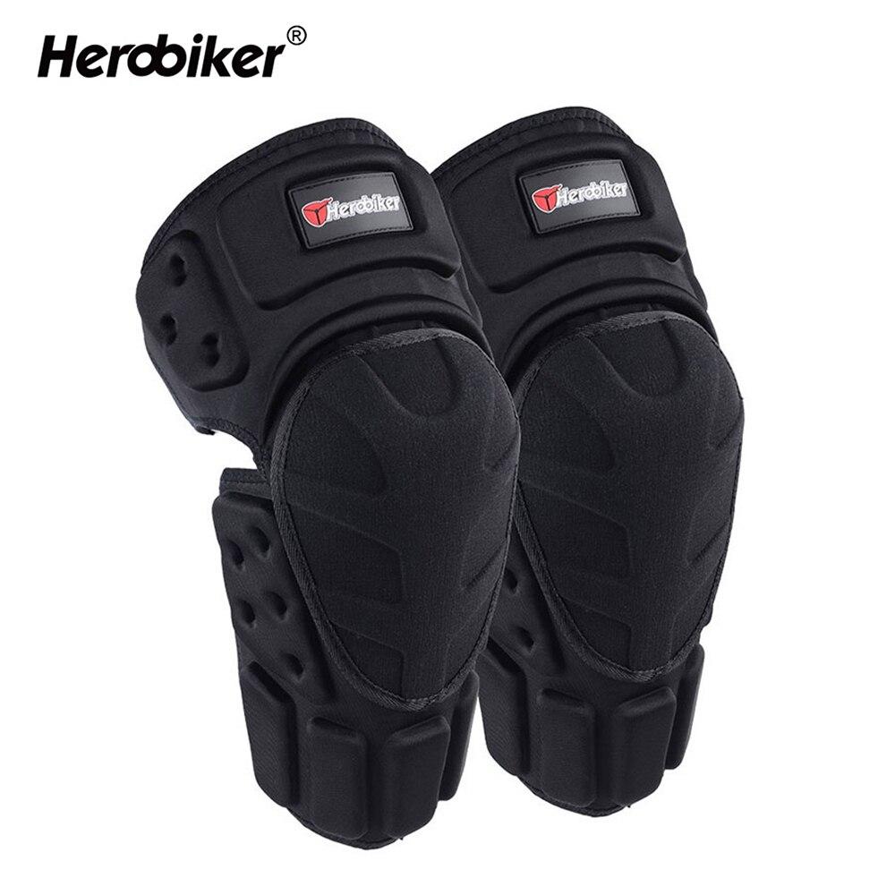 HEROBIKER Motorcycle Knee Pads Joelheira Motocross Knee Protector Guard MTB Ski Protective Gear Kneepad Moto Knee Brace Support