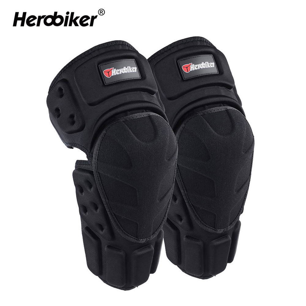 HEROBIKER Motorcycle Knee Pads Joelheira Motocross Knee Protector Guard MTB Ski Protective Kneepad Moto Knee Brace Support Gear scoyco k11h11 motorcycle sports knee elbow protector pad guard kit black