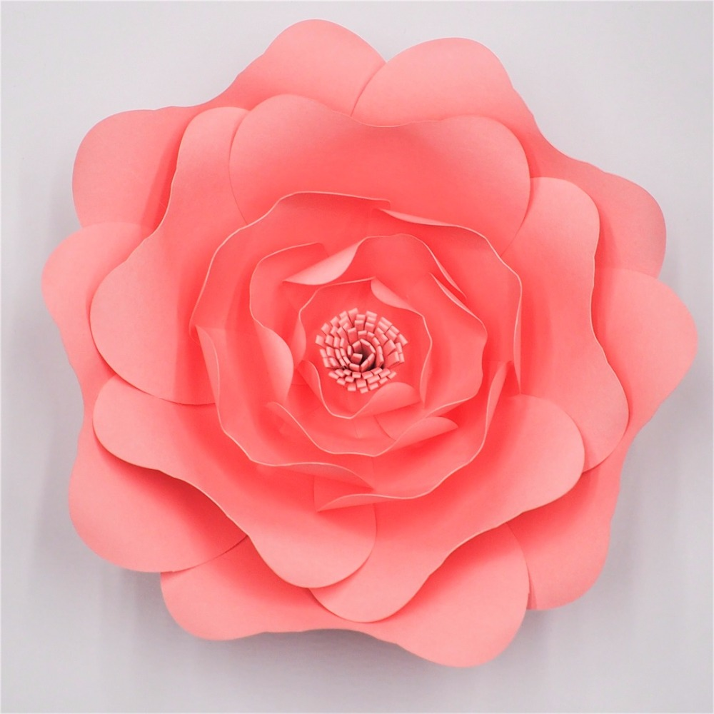 2018 Diy Large Rose Giant Paper Flowers For Wedding Backdrops
