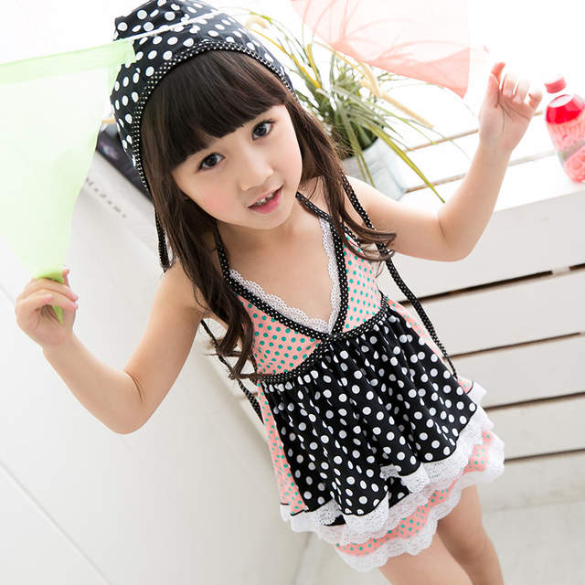 7361999e1fbb0 placeholder 2015 new children swimsuit little princess baby girls big  virgin Korea split skirt style swimming for