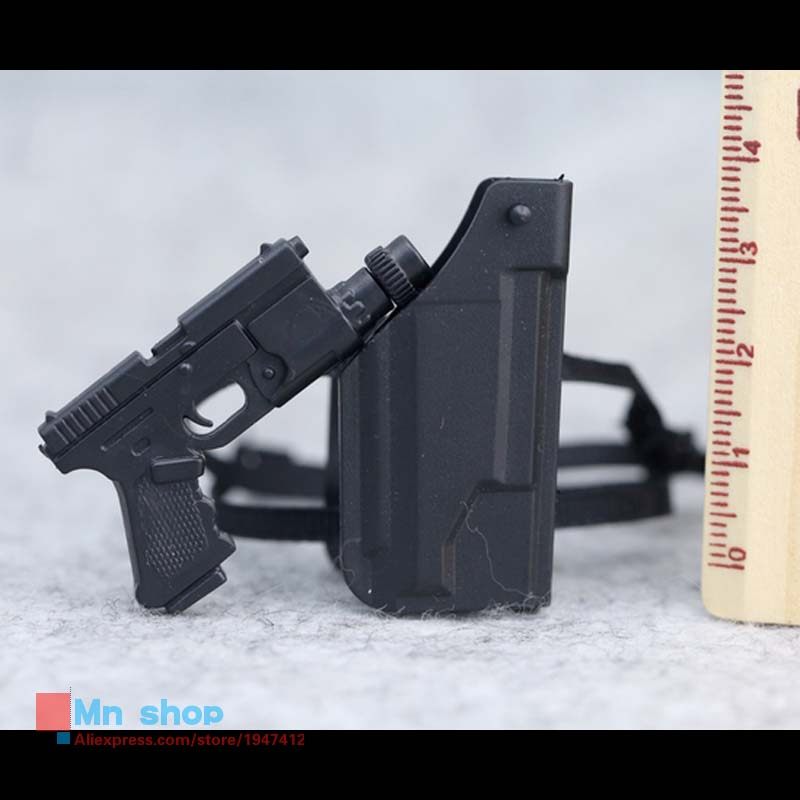 1/6 Scale Toys Model Pistol Holster Leg Hanging Model Flexible Weapon Toys For Action Figure Accesssories adjustable quick release plastic tactical puttee thigh leg pistol holster pouch for usp45 black