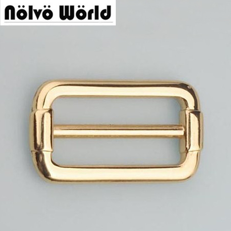 50mm(2 inch) Gold Plated Sewing Craft,belts bags fasteners,Round Edge Buckle Strap Adjuster Welded tri glide slider buckles