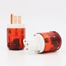 Pair Pure Copper US plug P046+C046 Pure Copper US AC POWER PLUG Audio Power Plug