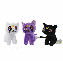 3Pcs/Set Anime Sailor Moon Luna Cat Cute Plush Toy Doll 3 Color 7