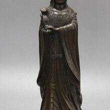003364 китайская Бронзовая медь Посейдон морской Бог Руи Мацу статуя бодхисаттвы скульптура