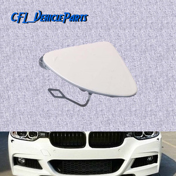Front Bumper Tow Hook Eye Cover Cap Primed 51117293116 For BMW 3 Series F30 F31 328i 335i 320i 335i 2011 2012 2013 2014 2015 image