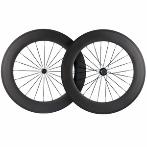 Image 5 - Factory Sales 700C Carbon Wheelset Tubular 38mm 50mm 60mm 88mm Carbon Bicycle Wheels Clincher Road Bike Wheels Basalt Braking