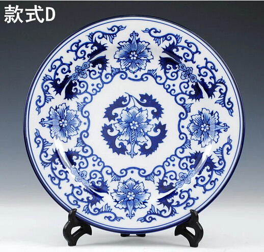 Blue and white decorative wall plates best piece chinese