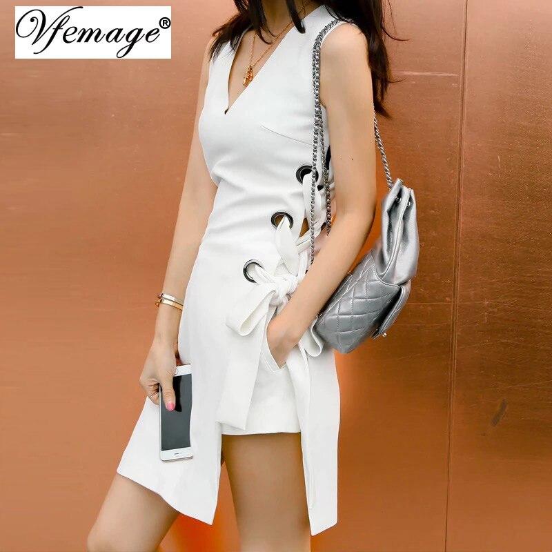 Женское платье Vfemage 2017 Sexy V