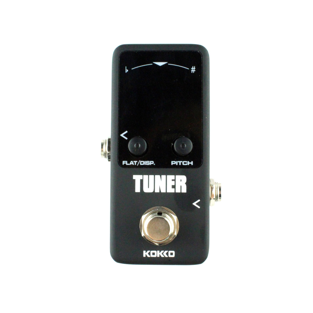 KOKKO Mini guitar Tuner effect pedal tuner Guitar effects pedal guitarra High sensitivity HD display Dual display mode kokko fbs2 mini guitar effect pedal guitarra booster high power tube electric guitar two segment eq effect device parts