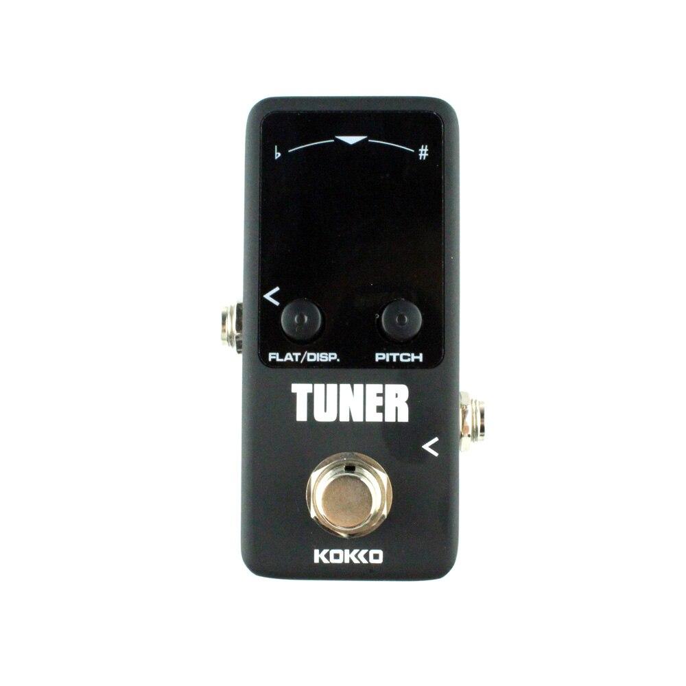 KOKKO Mini guitar Tuner effect pedal tuner Guitar effects pedal guitarra High sensitivity HD display Dual display mode
