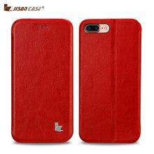 Jisoncase Чехол для iPhone 7 Plus Flip Smart Cover искусственная кожа Магнитная мобильного телефона чехлы для iPhone 7 для iPhone 7 Plus