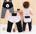 Bebé Niños Niñas niños Pantalones de Dibujos Animados Caliente Leggings de Punto Pantalones de Los PP 2016 Pantalones de Invierno